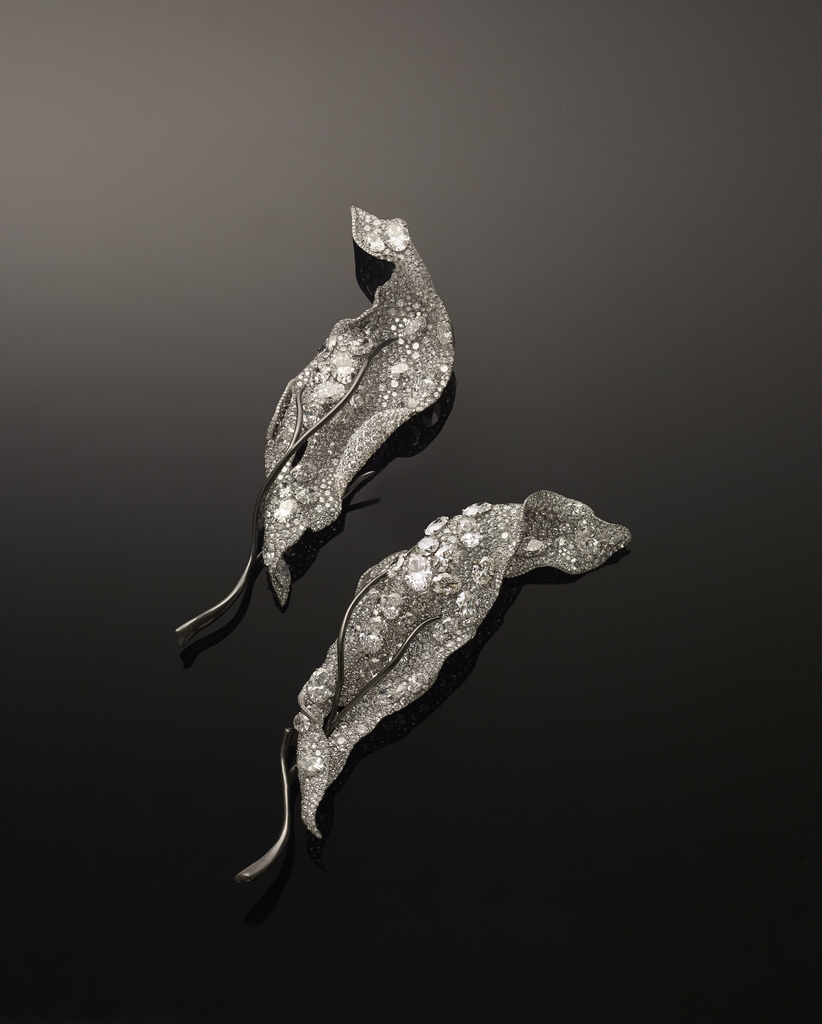 [Product Image] CINDY CHAO The Art Jewel 2015 Black Label Masterpiece No 6 Winter Leaves Brooch