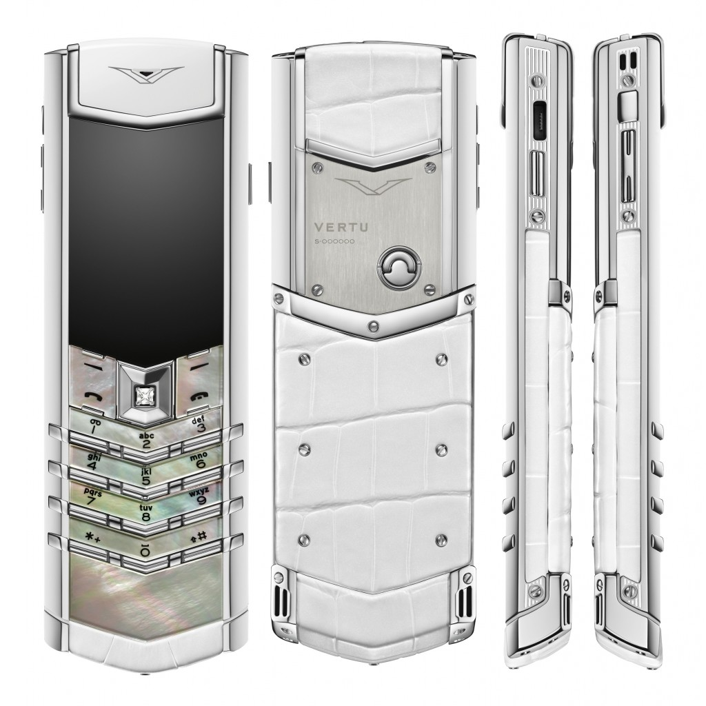 Vertu Signature_White Mother of Pearl